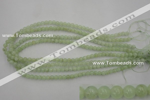 CPR101 15.5 inches 6mm round natural prehnite beads wholesale