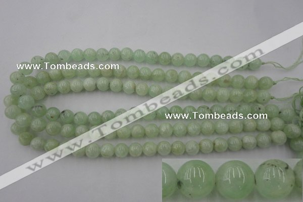 CPR102 15.5 inches 8mm round natural prehnite beads wholesale