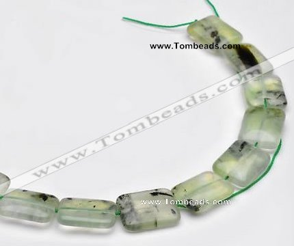 CPR14 A- grade 13*18mm rectangle natural Prehnite gemstone beads