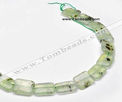 CPR15 A grade 15*20mm rectangle natural Prehnite gemstone beads