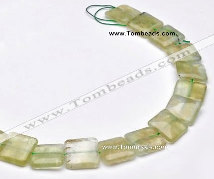 CPR16 A grade 18*18mm square natural Prehnite gemstone beads