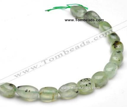 CPR17 A grade 10*18mm freeform natural Prehnite gemstone beads