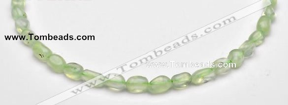 CPR19 A+ grade 7*10mm freeform natural Prehnite gemstone beads