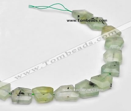 CPR21 Freeform A grade natural Prehnite gemstone beads Wholesale