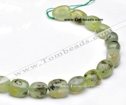 CPR23 A grade 12*18mm pebble shape natural Prehnite stone beads