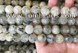 CPR355 15.5 inches 14mm faceted round prehnite beads wholesale
