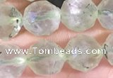 CPR377 15.5 inches 8mm faceted nuggets prehnite gemstone beads