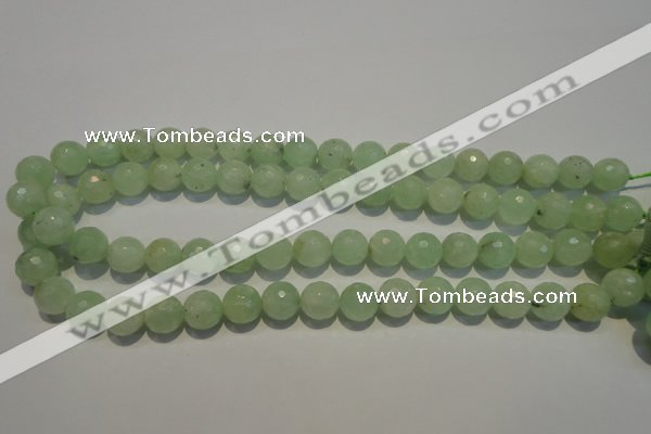 CPR54 15.5 inches 12mm faceted round natural prehnite beads