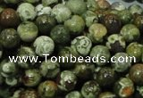 CPS05 15.5 inches 8mm round green peacock stone beads wholesale
