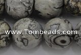 CPT190 15.5 inches 14mm round grey picture jasper beads wholesale