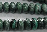 CPT200 15.5 inches 8*14mm rondelle green picture jasper beads