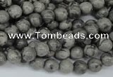 CPT352 15.5 inches 6mm round grey picture jasper beads wholesale