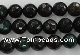 CPT403 15.5 inches 10mm faceted round green picture jasper beads