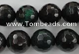 CPT406 15.5 inches 16mm faceted round green picture jasper beads