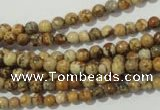 CPT450 15.5 inches 4mm round picture jasper beads wholesale