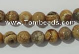 CPT452 15.5 inches 8mm round picture jasper beads wholesale