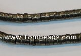 CPY115 15.5 inches 3*6mm heishi pyrite gemstone beads wholesale