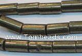 CPY129 15.5 inches 8*16mm tube pyrite gemstone beads wholesale