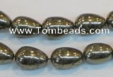 CPY133 15.5 inches 10*14mm teardrop pyrite gemstone beads wholesale