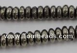 CPY211 15.5 inches 4*10mm rondelle pyrite gemstone beads wholesale