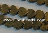 CPY331 15.5 inches 8*8mm heart pyrite gemstone beads wholesale