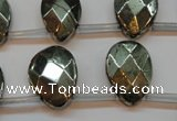 CPY376 Top drilled 15*20mm briolette pyrite gemstone beads