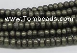 CPY38 16 inches 5*10mm rondelle pyrite gemstone beads wholesale