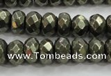 CPY429 15.5 inches 5*8mm faceted rondelle pyrite gemstone beads