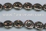 CPY574 15.5 inches 10mm donut pyrite gemstone beads wholesale