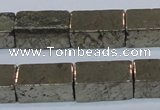 CPY594 15.5 inches 10*20mm cuboid pyrite gemstone beads
