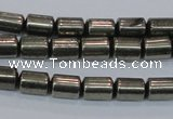 CPY608 15.5 inches 6*9mm tube pyrite gemstone beads