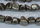 CPY622 15.5 inches 5*8mm - 6*10mm nuggets pyrite gemstone beads
