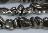 CPY623 15.5 inches 8*9mm - 9*10mm nuggets pyrite gemstone beads