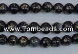 CPY771 15.5 inches 6mm round pyrite gemstone beads wholesale