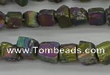CPY803 15.5 inches 6*10mm - 8*12mm nuggets plated pyrite beads