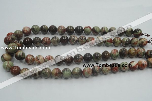 CRA02 15.5 inches 10mm round natural rainforest agate gemstone beads