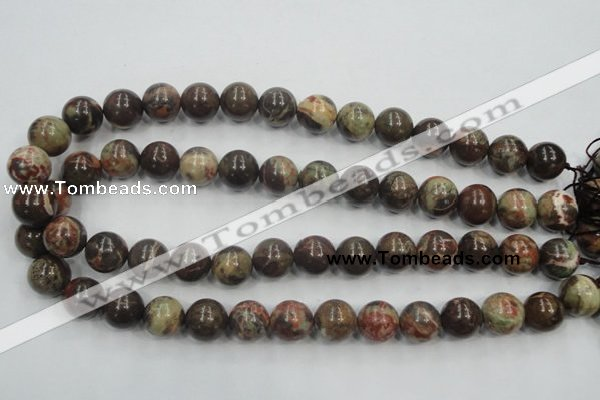 CRA04 15.5 inches 14mm round natural rainforest agate gemstone beads