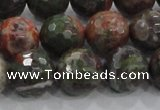 CRA105 15.5 inches 16mm faceted round rainforest agate beads