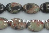 CRA15 15.5 inches 13*18mm oval natural rainforest agate beads