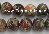 CRA153 15.5 inches 14mm round rainforest agate beads wholesale