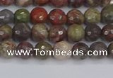 CRA161 15.5 inches 6mm faceted round rainforest agate beads