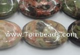 CRA17 15.5 inches 22*30mm oval natural rainforest agate beads