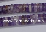 CRB1007 15.5 inches 2*6mm heishi dogtooth amethyst beads wholesale