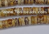 CRB1016 15.5 inches 2*5mm heishi picture jasper beads wholesale