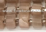 CRB1061 15.5 inches 5*8mm - 6*8mm faceted tyre moonstone beads