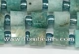 CRB1068 15.5 inches 4*6mm - 5*6mm faceted tyre amazonite beads