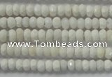 CRB109 15.5 inches 2.5*4mm faceted rondelle white agate beads