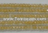 CRB114 15.5 inches 3*4.5mm faceted rondelle citrine gemstone beads