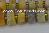 CRB1247 15.5 inches 6*12mm tyre matte crazy lace agate beads