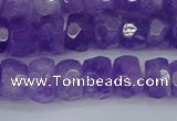 CRB1276 15.5 inches 6*10mm faceted rondelle lavender amethyst beads